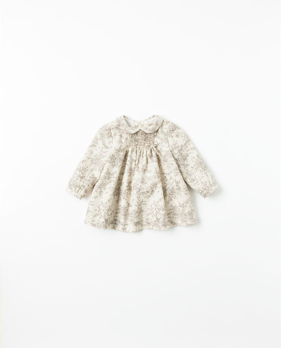 Zara baby dress Tan