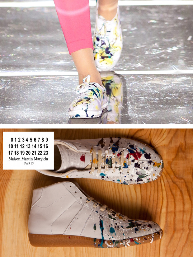 Yadah paint splattered sneakers